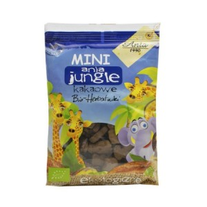 Herbatniki mini Jungle kakaowe BIO 100g - Ania