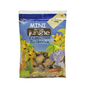 Herbatniki mini Jungle z czekoladą BIO 100g - Ania