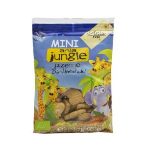 Herbatniki mini Jungle pszenne BIO 100g - Ania